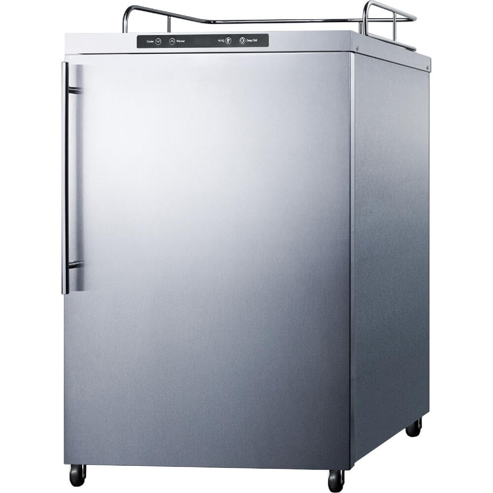 Summit 24 - Inch 5.6 Cu. Ft. Mobile Stainless Steel Outdoor Beer Kegerator - No Tap Kit (Model: SBC635MOS7NK)