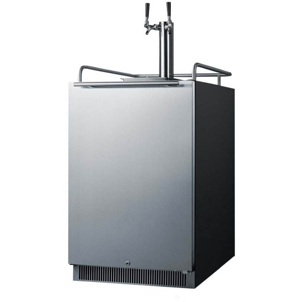 Summit 24-Inch 6.5 Cu. Ft. Stainless Steel Double Tap Beer Kegerator (Model: SBC677BITWIN)