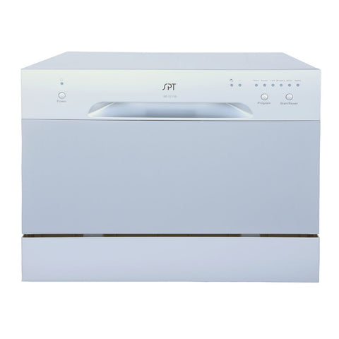 Sunpentown 120V Silver  6 Wash Cycles Countertop Dishwasher (SD-2213S)