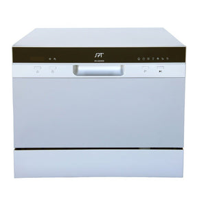 Sunpentown 120V Silver 7 Wash Cycles Countertop Dishwasher w/ Delay Start & LED (SD-2224DS)