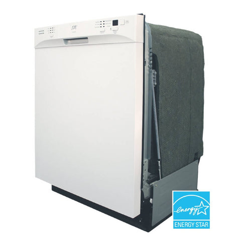 "Image of Sunpentown 24"" Built-In White Tall Tub Dishwasher w/ Heated Drying (SD-6501W)"