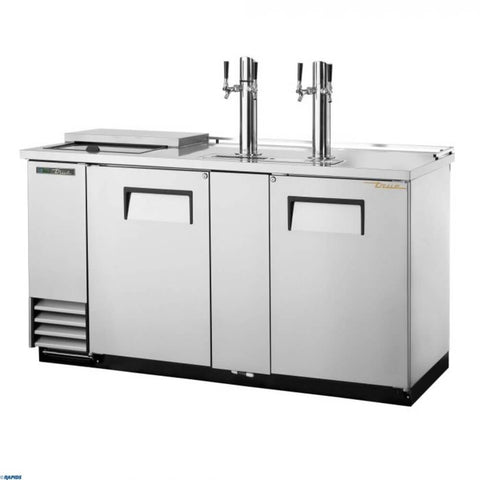 "True Direct Draw 69"" Stainless Steel Double Tap Beer Dispenser (TDD-3CT-S)"