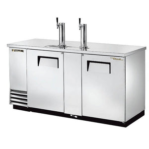 "True Direct Draw 69"" Stainless Steel Double Tap Beer Dispenser (TDD-3-S-HC)"