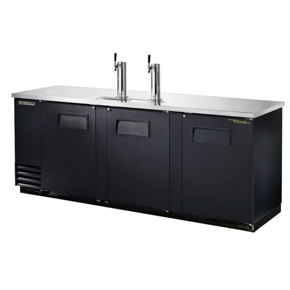 "True Direct Draw 90"" Black Double Tap Beer Dispenser (TDD-4-HC)"