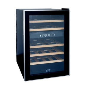 Sunpentown Dual-Zone Thermo-Electric 24-Bottles Wine Cooler with Wooden Shelves (Model: WC-2463W)
