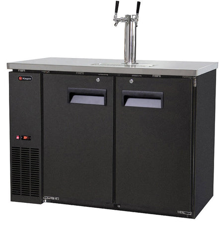Kegco Two Keg Commercial Grade Kegerator with Direct Draw Kit, Black (Model: XCK-2448B-C)