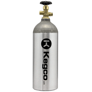 Kegco 5 lb. Aluminum Co2 Tank for Kegerator and Draft Beer Dispensing (Model: BF C5)