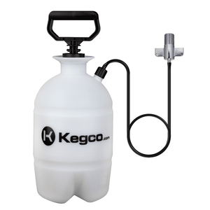 Kegco Deluxe Hand Pump Pressurized Keg Beer Kegerator Cleaning Kit w/ 32 oz. Cleaner (Model:KPCK32)
