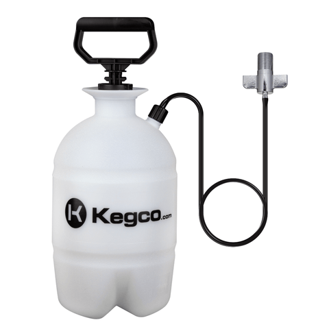 Image of Kegco Deluxe Hand Pump Pressurized Keg Beer Kegerator Cleaning Kit w/ 32 oz. Cleaner (Model:KPCK32)