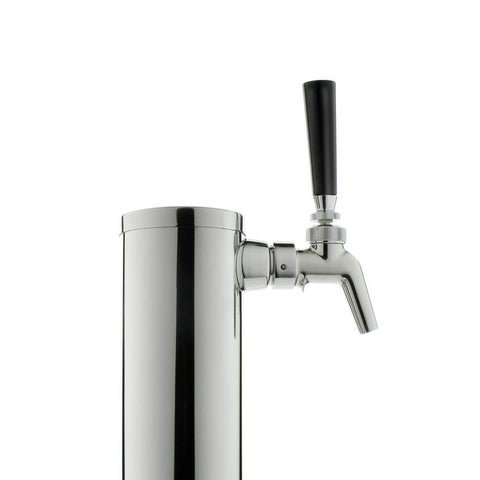 "14"" Tall Polished Stainless Steel 1-Faucet Draft Beer Tower - Perlick Faucet"