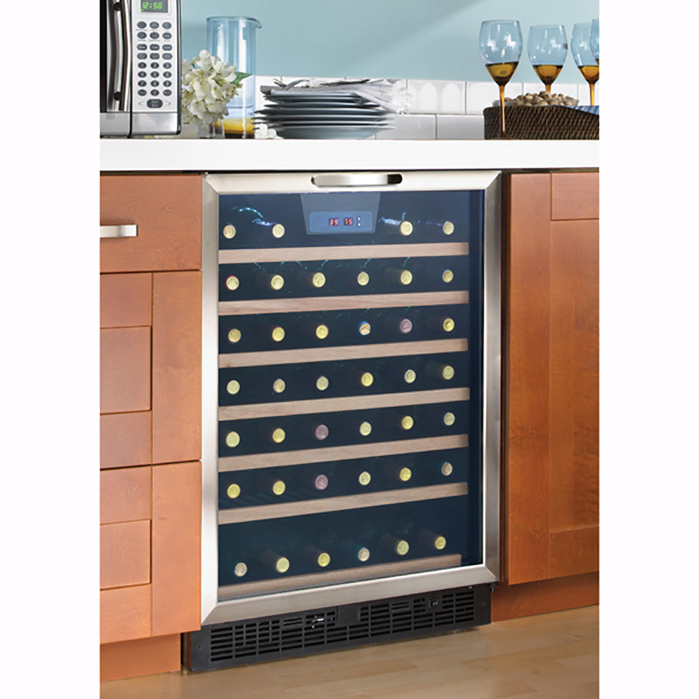 Danby Designer Stainless Steel Wine Cooler with LED Lighting