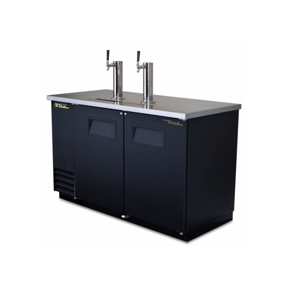 "True Direct Draw 59"" Black  Double Keg Beer Dispenser (TDD-2-HC)"