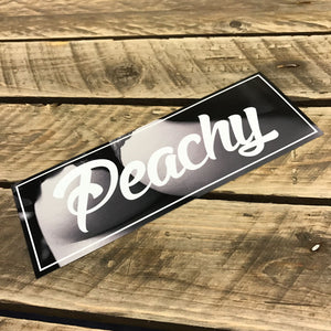 Peachy Slap Sticker