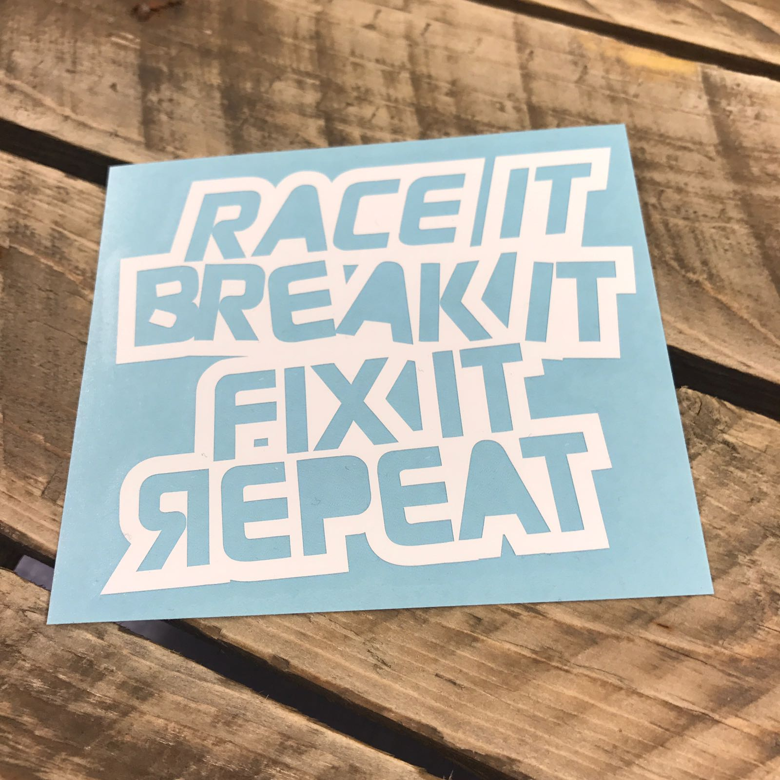 Race It, Break It, Fix It, Repeat