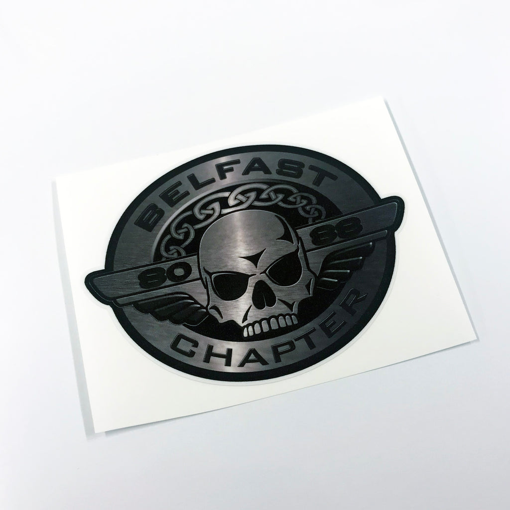 Belfast HOG Oval Sticker