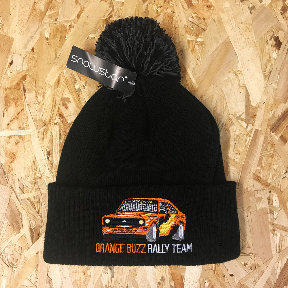 Orange Buzz Rally Team Bobble Hat
