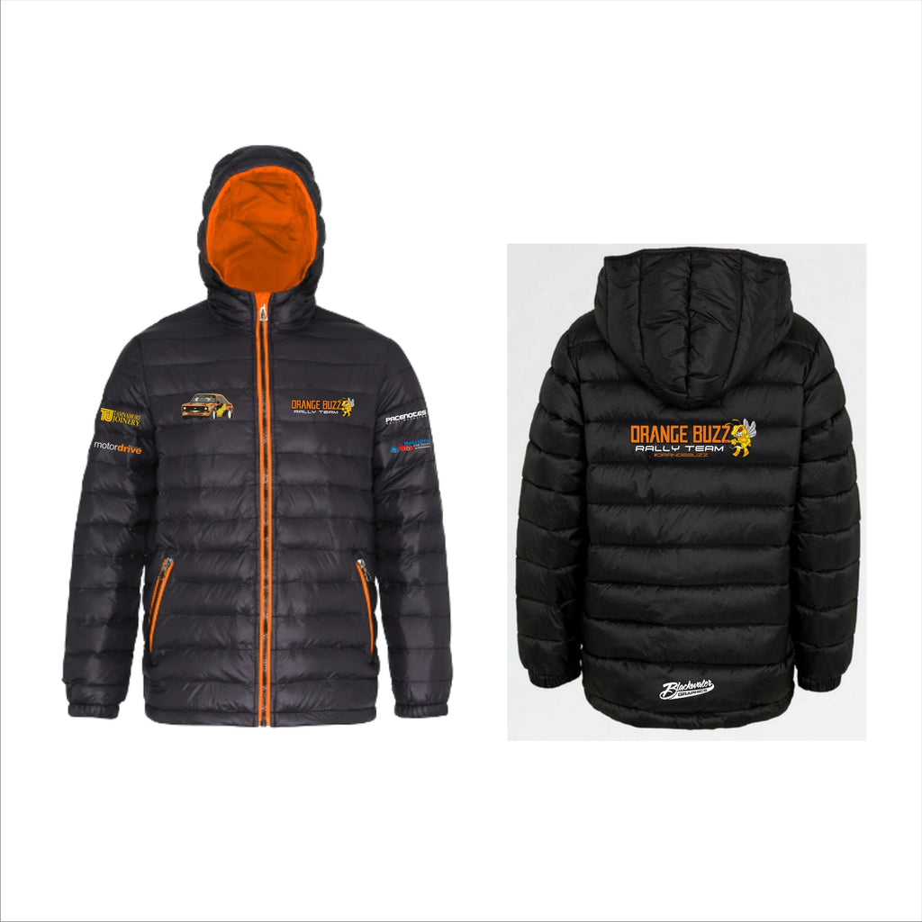 Orange Buzz Rally Team Puff Jacket