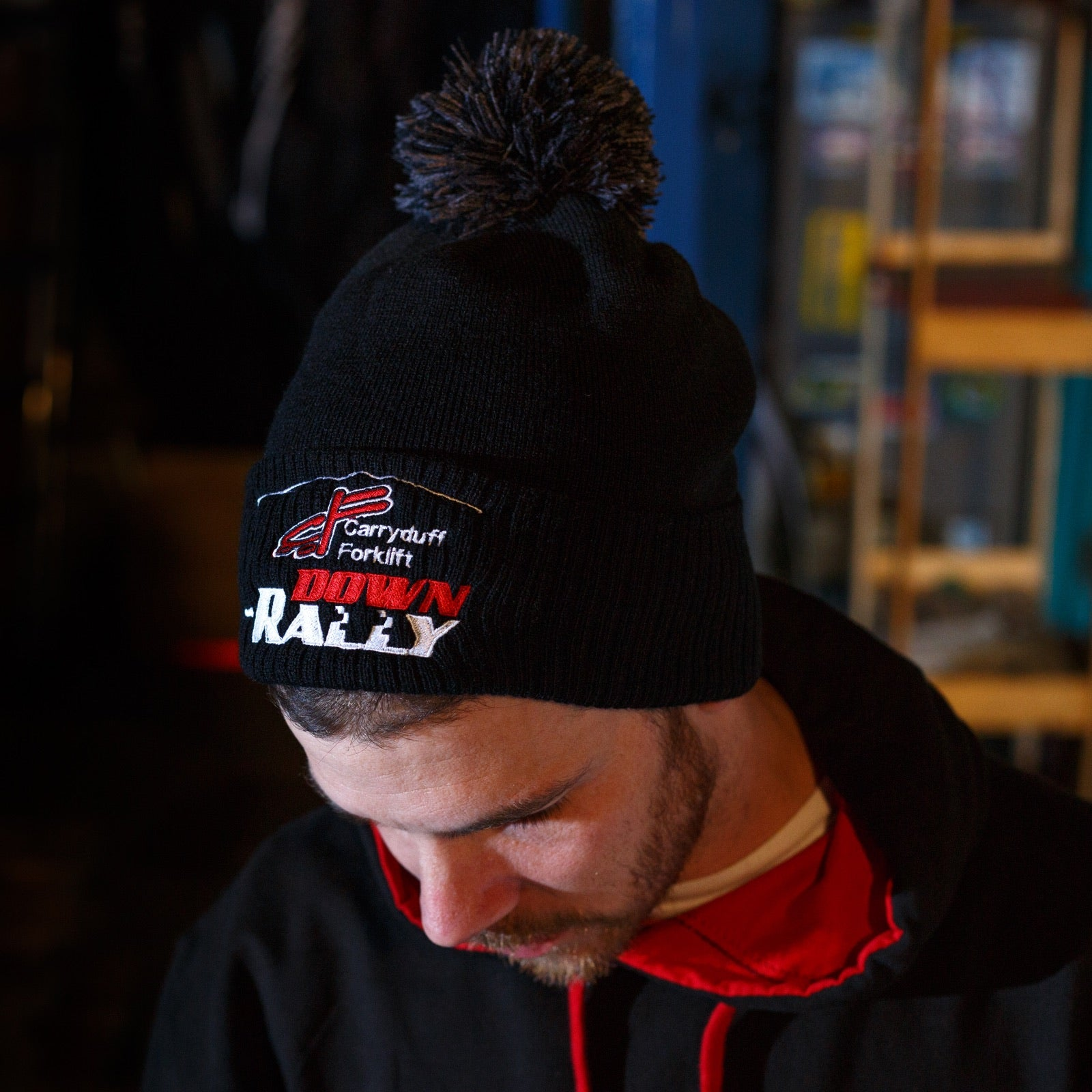 Down Rally Bobble Hat