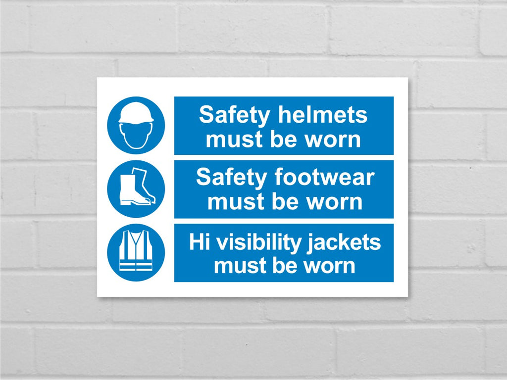 Safety workwear sign