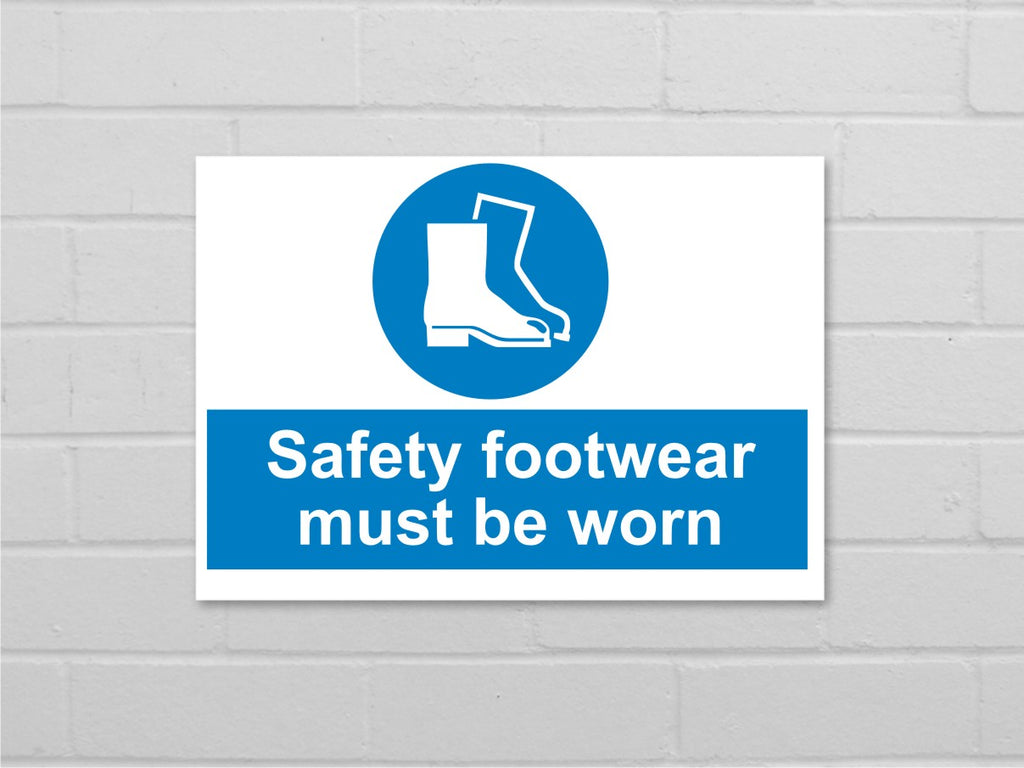 Safety footwear sign