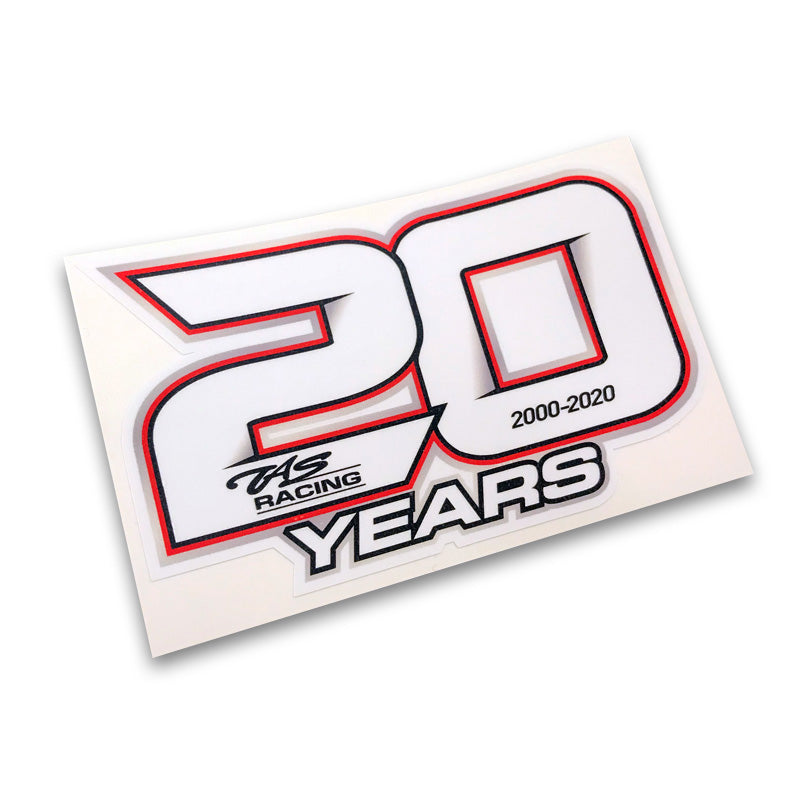 TAS Racing 20 Years Sticker