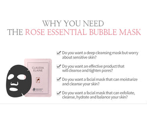 ROSE ESSENTIAL BUBBLE MASK (5 Pack)