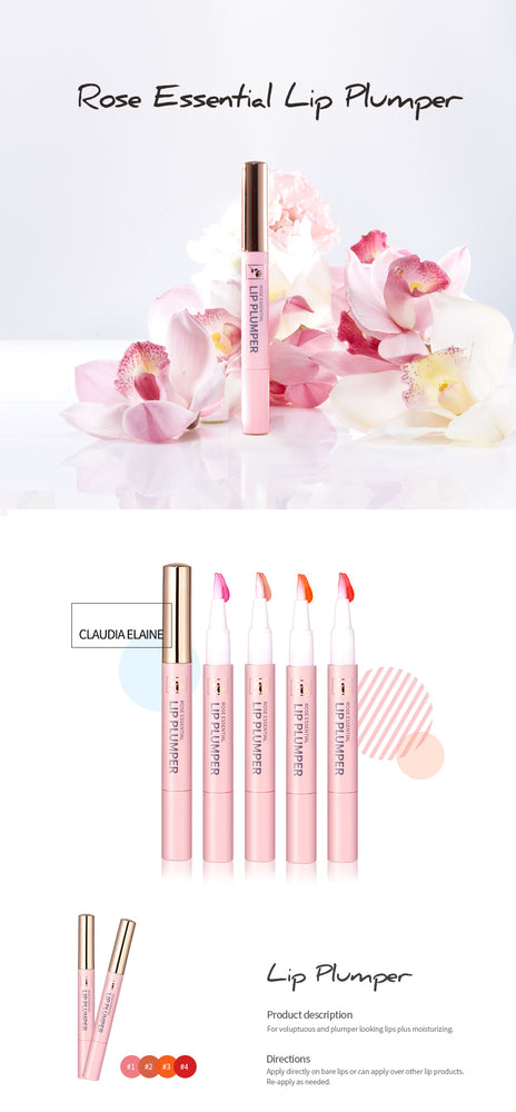 ROSE ESSENTIAL LIP PLUMPER #1 PURE PINK