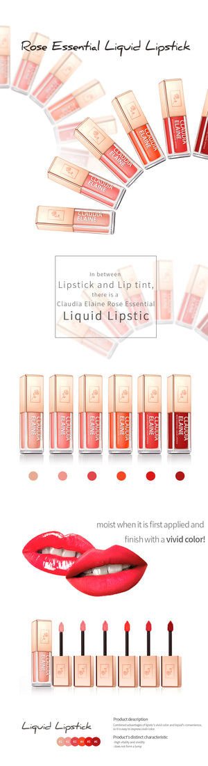 ROSE ESSENTIAL LIQUID LIPSTICK5 HOT SUMMER