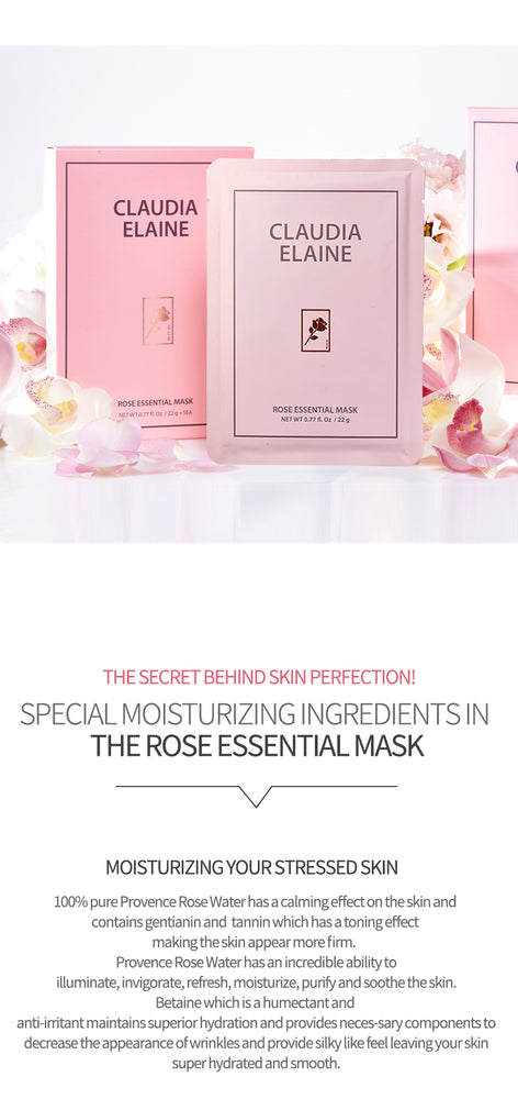 ROSE ESSENTIAL MASK (5 Pack)