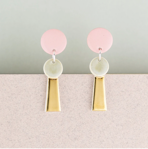 Erin Lightfoot Porcelain - Pink & Gold Small Tassel