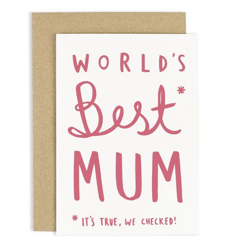 Worlds best Mum Card