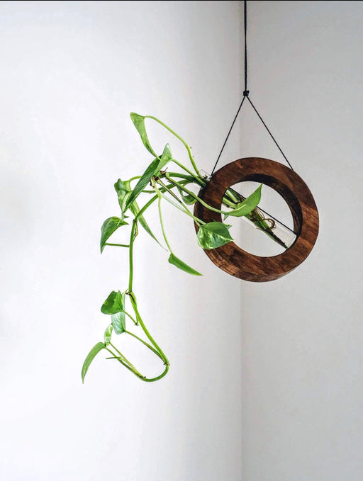 Timber wall hanger - Mobile, Dark