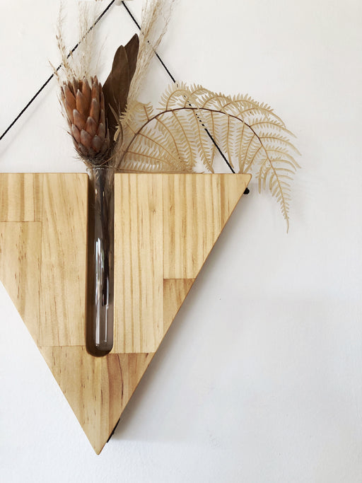 Timber wall hanger - Triangle, Natural