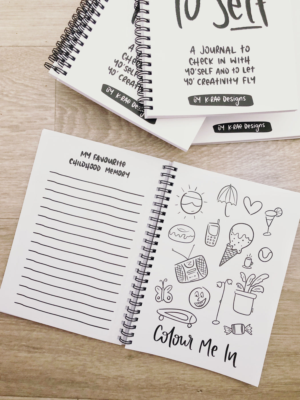Check Yo'Self Diary - Rad Creativity Diary for Grownups by K.Rae.Designs