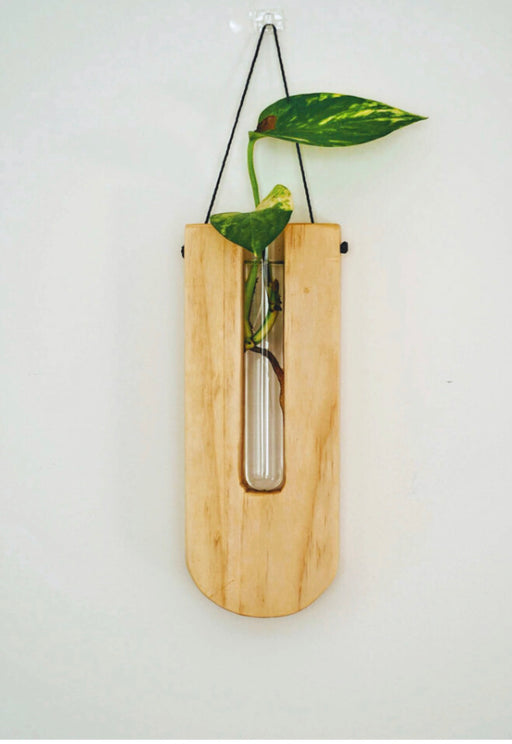 Timber wall hanger - Drop, Natural