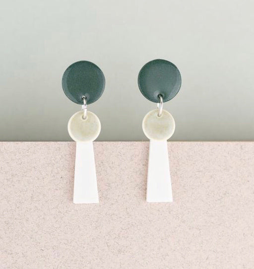Erin Lightfoot Porcelain - Green & White Small Tassel