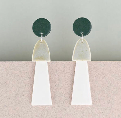 Erin Lightfoot Porcelain - Green & White Tassel