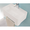 Lavabo suspendu design CORK 50 cm en solid surface - Swissbain