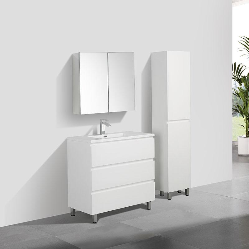 Meuble Salle De Bain Design Simple Vasque Verona Largeur 90 Cm Blanc Swissbain