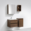 Meuble salle de bain design simple vasque SIENA largeur 60 cm, noyer - Swissbain