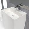 Lavabo colonne design CABANES 60 cm en solid surface - Swissbain