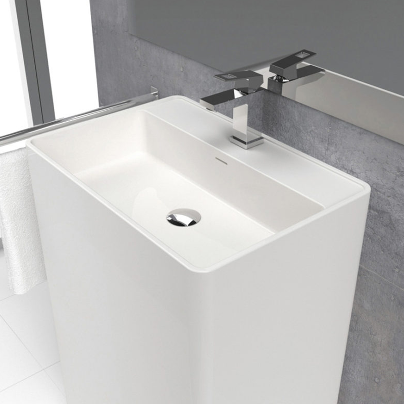 Lavabo colonne design CABANES 60 cm en solid surface