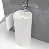 Lavabo colonne design VISTABELLA Ø45 cm en solid surface - Swissbain