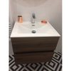 Meuble salle de bain design simple vasque SIENA largeur 60 cm, noyer