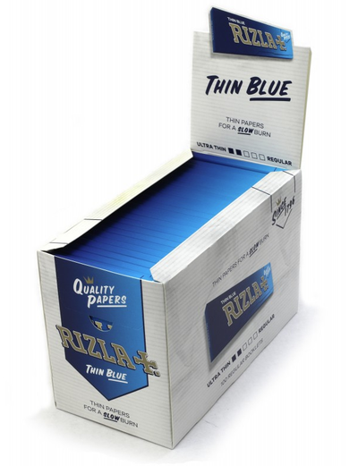 Rizla  Thin Blue single wide size 70mm*36mm x 100
