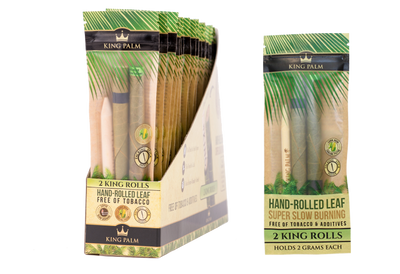 King Palm 2 King Rolls / Pouch - 24 Units Display Box