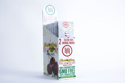 High Hemp Organic Wraps Blazin' Cherry 25packs box