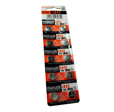 Maxell LR43 1 Card (10 pcs)