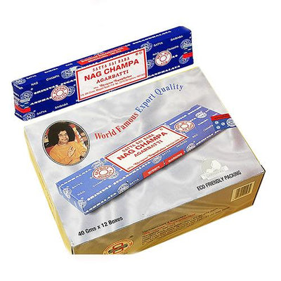 Genuine Nag Champa Incense 40 g. Dozen 12 packs