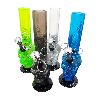 Acrylic Water Pipe 8inch Skull Design